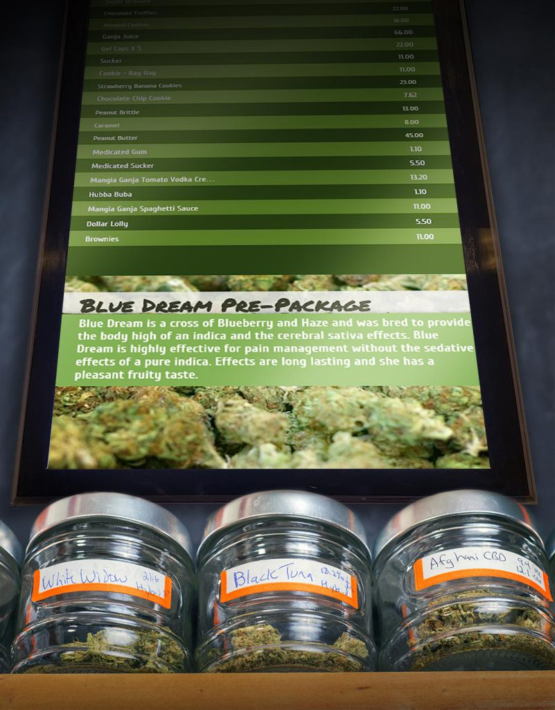 cannabis menu boards  u2013 insteo